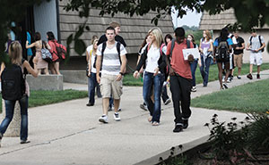 Students Walking on Campus small